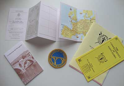 Pilgrim Passport and patch from Cutie on The Camino